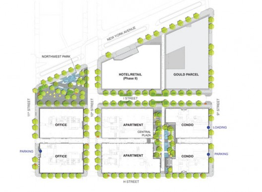 Citycenterdc site plan district developments for Who designed the basic plan for washington dc